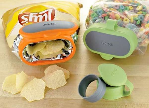 Snap-Shut Snack Lids