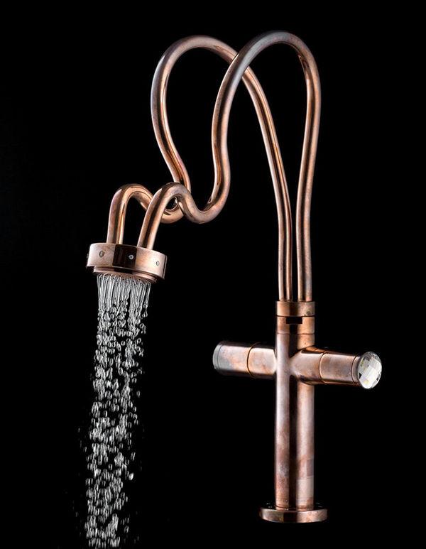 Rustic Mythological Faucets : copper faucet design