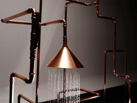 Copper Pipe Sculptures