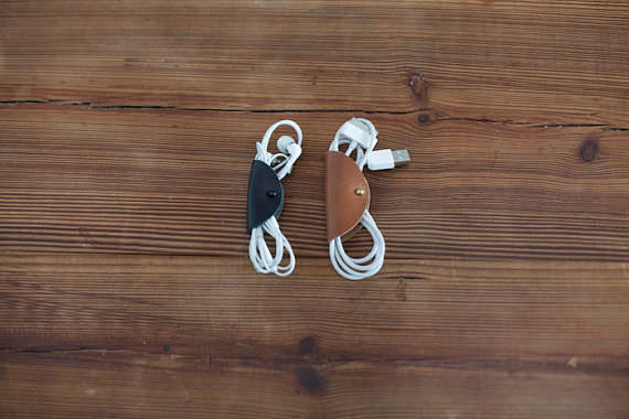Minimalist Leather Cord Arrangers