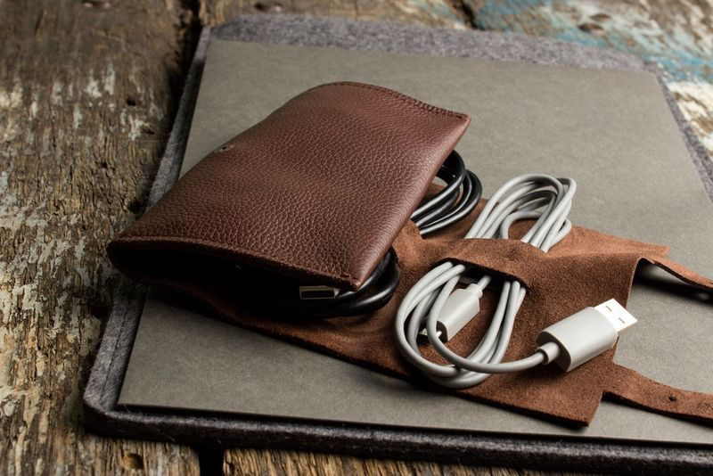 Compact Leather Cord Carriers