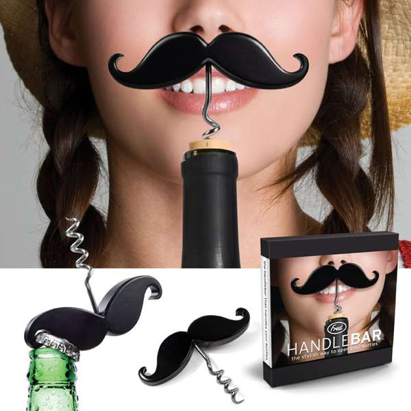 Mustached Bottle Openers