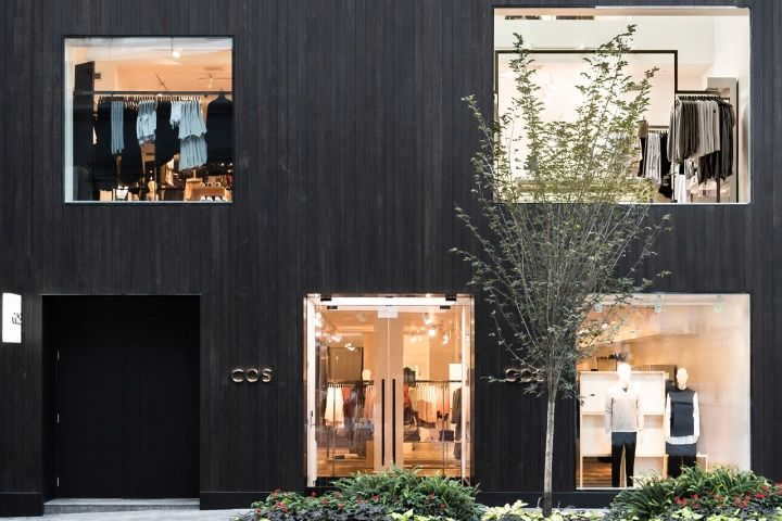 Charred Wood Boutique Facades Cos Flagship