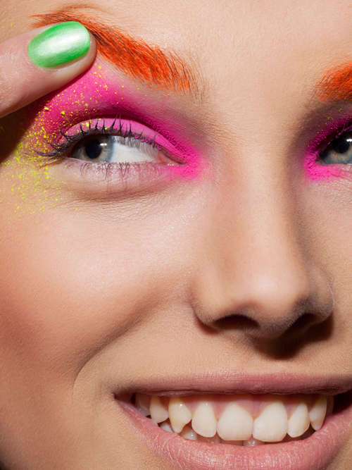 Neon-Colored Eyeshadow Editorials