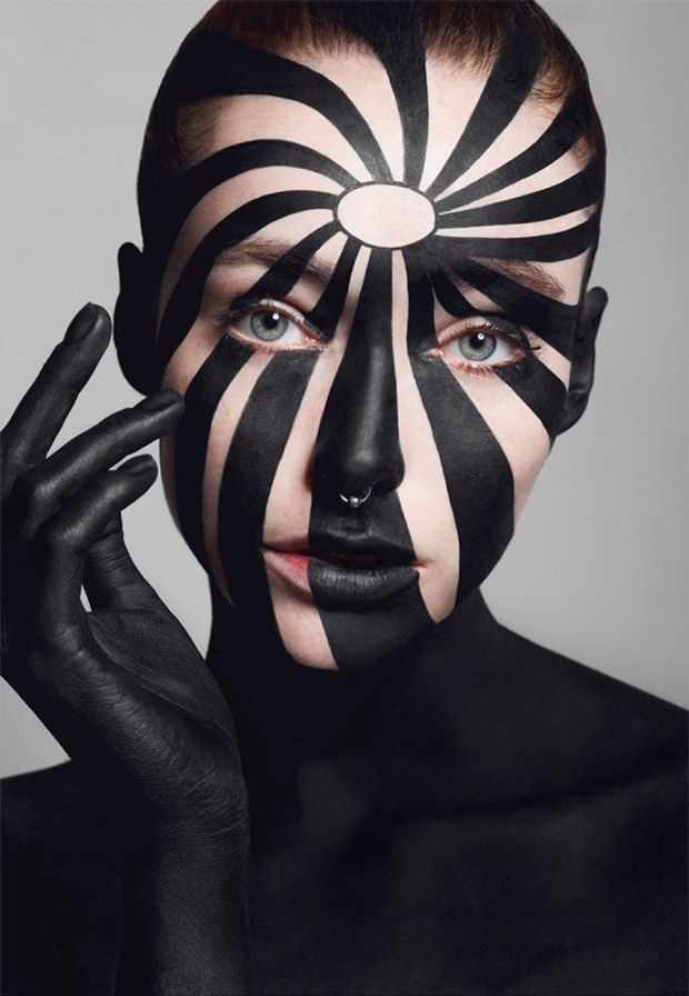 Op-Art Beauty Editorials : Costume Makeup