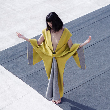 Sculptural Couch Cover Dresses