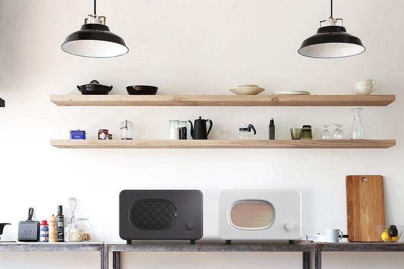 Minimalist Contemporary Microwaves