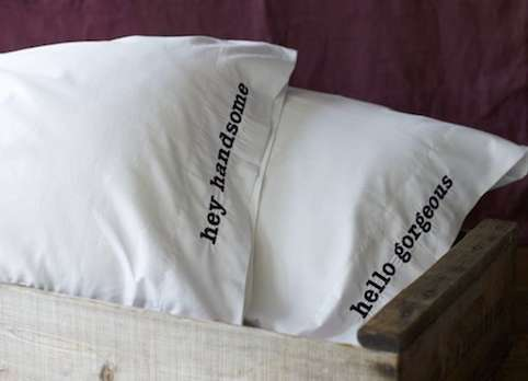 Vanity-Boosting Bedding Sets : Couple Pillows