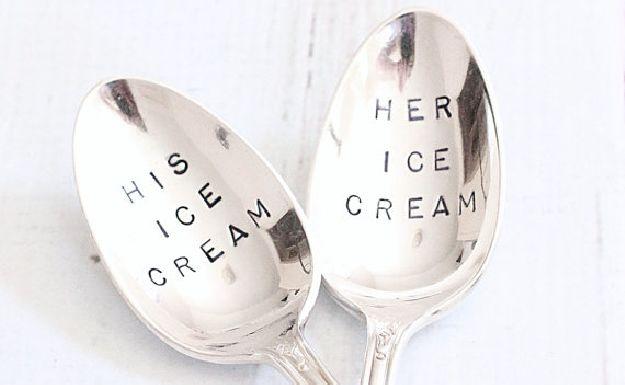 Cutesy Couples' Cutlery