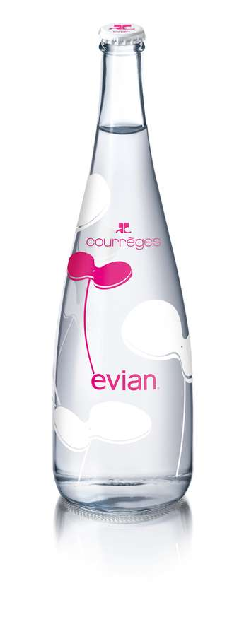 Courreges Limited Edition Evian Bottle