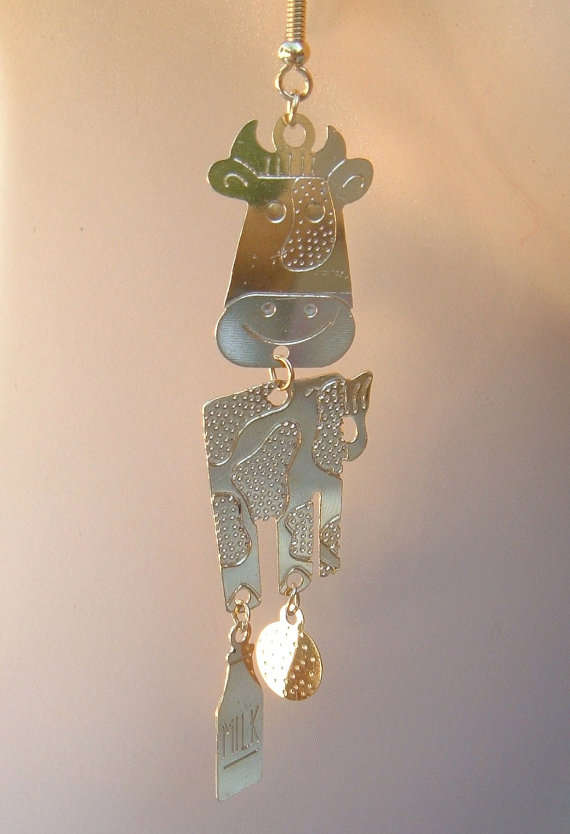 Metallic Cow Jewelry