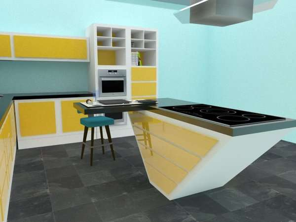 Retro Modular Kitchens