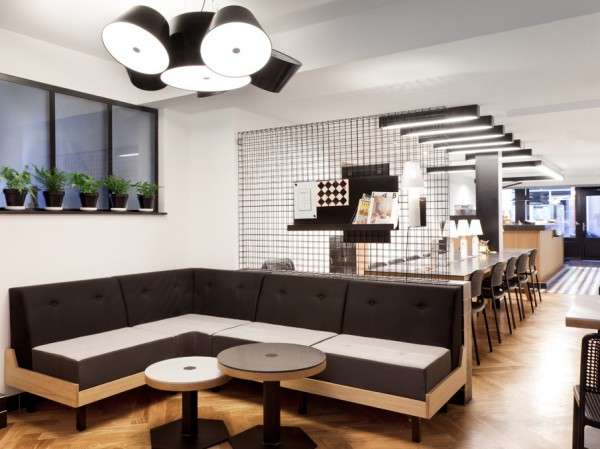 Monochromatic Checkered Cafes