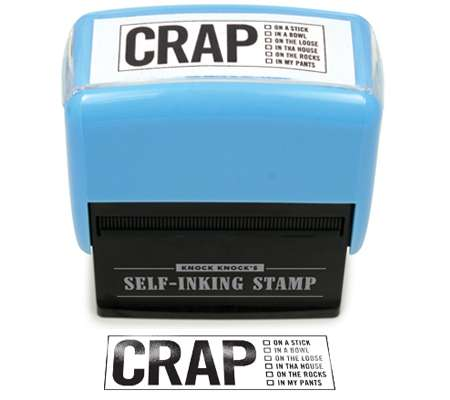 crap self-inking stamper