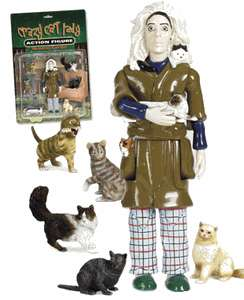 Crazy Cat Lady Action Figures