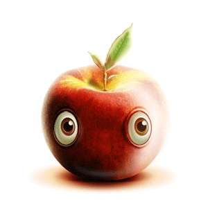 Endearing Emotive Apple Art