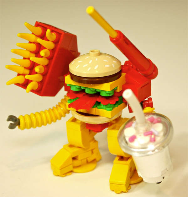 Fast Food Toys : Fast food philanthropy toys creations for charity big mak