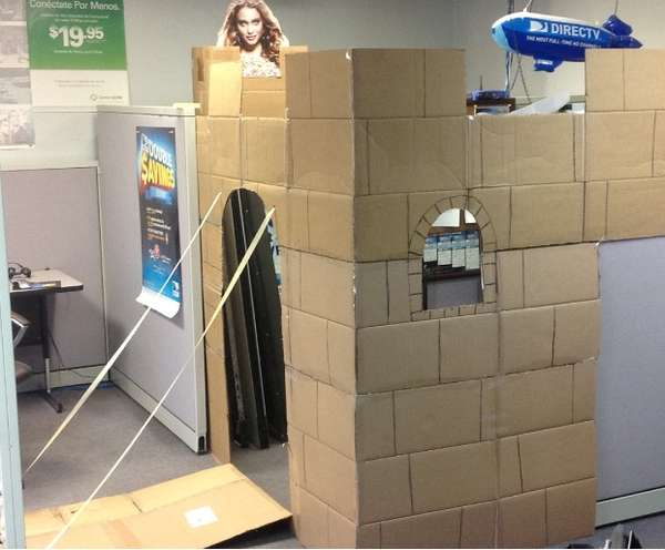 Cardboard Cubicle Castles Creative Office Space