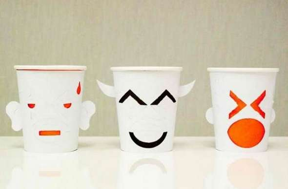 Interactive Emoji Cups