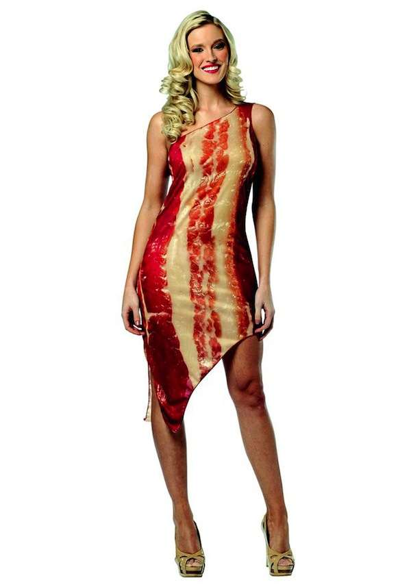 Peculiar Bacon-Printed Dresses