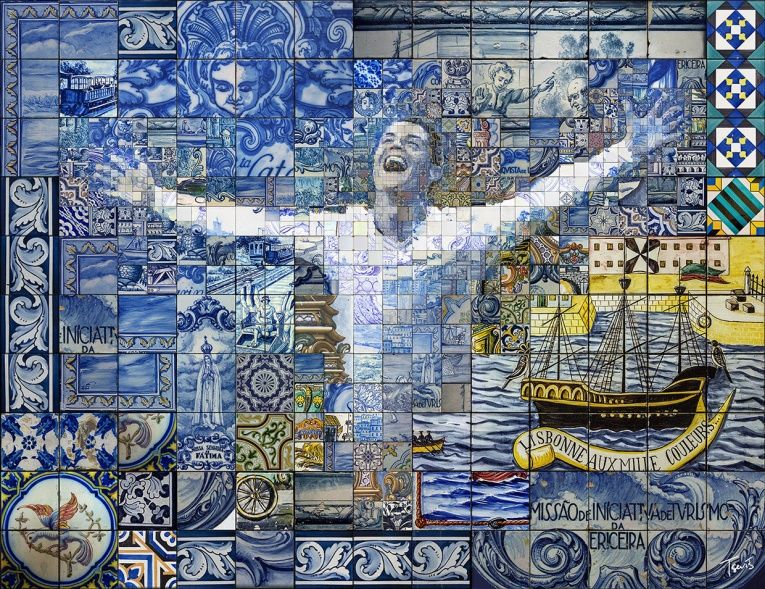 Ornate Soccer Star Mosaics