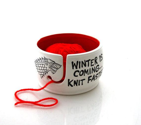Nerdy Knitting Bowls