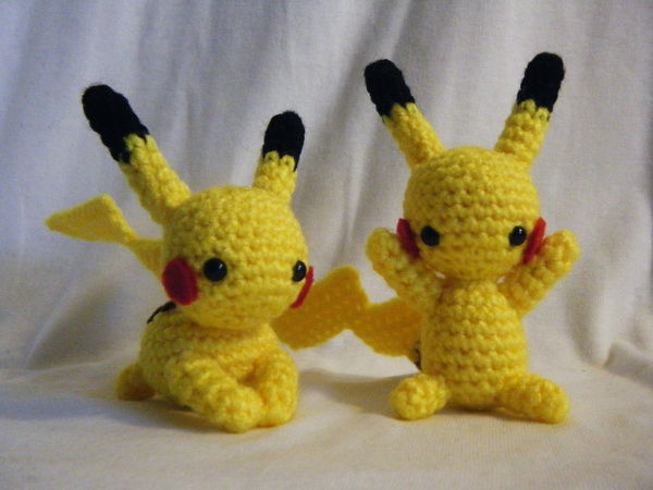 Cute Crocheted Cartoon Characters