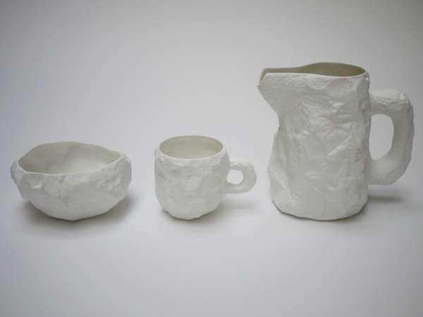 Cartilage Inspired Ceramics Crockery Bone China