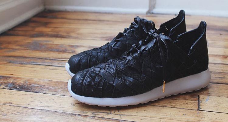 Hand-Braided Crocodile Sneakers