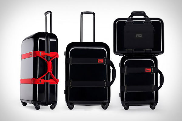 Strap-Secured Luggages