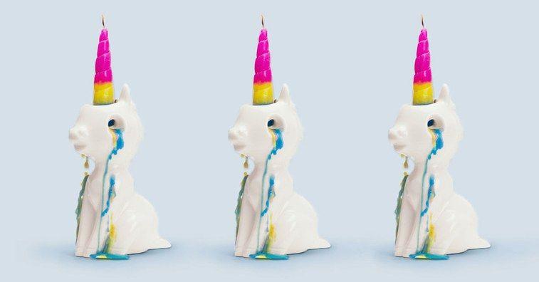 Crying Unicorn Candles