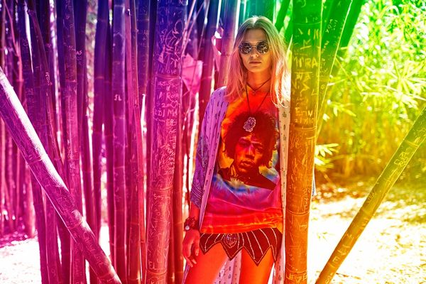 Psychedelic Flower Child Editorials