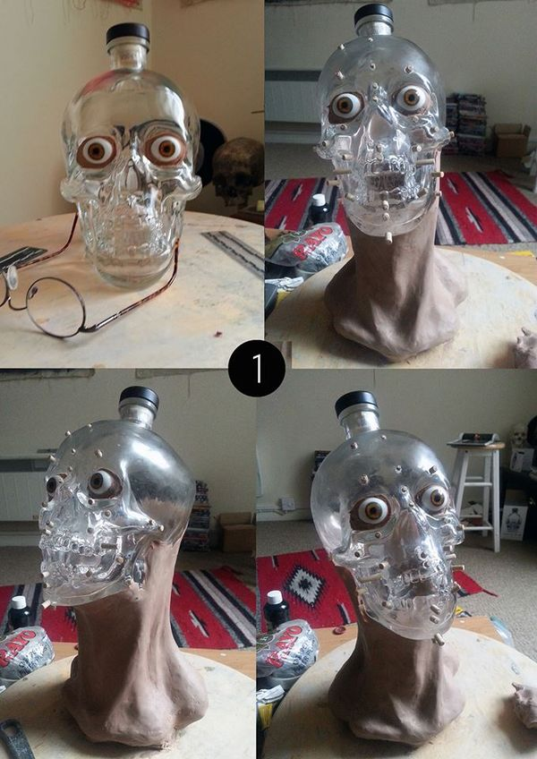 Skin Grafted Skull Bottles
