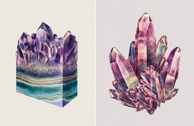 Layered Crystal Illustrations
