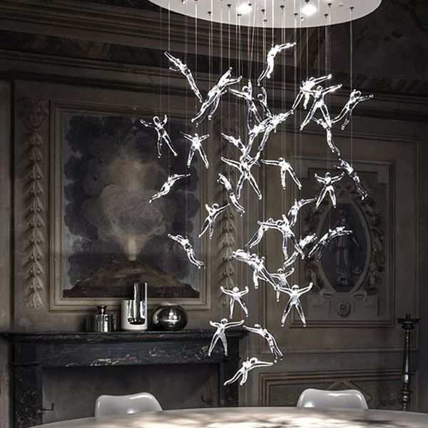 Cascading Crystal Angel Lights