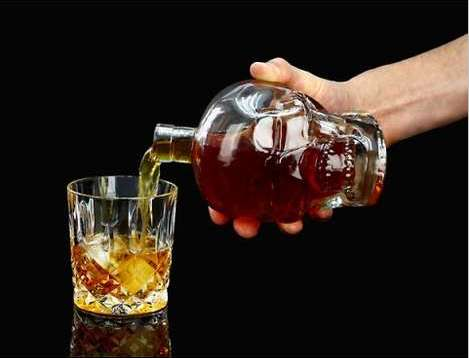 Crystal Skull Liquor Decanter