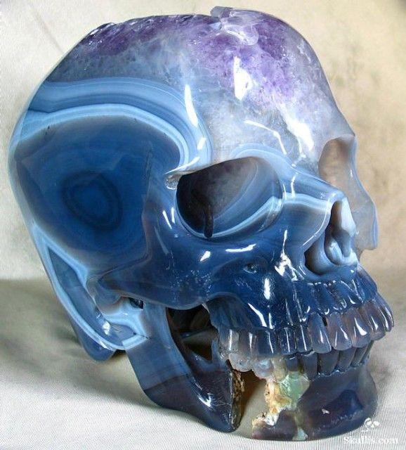 Dazzling Crystalline Skull Sculptures