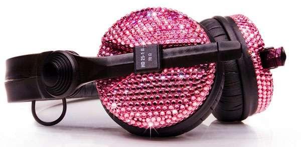 Pink Swarovski Headphones