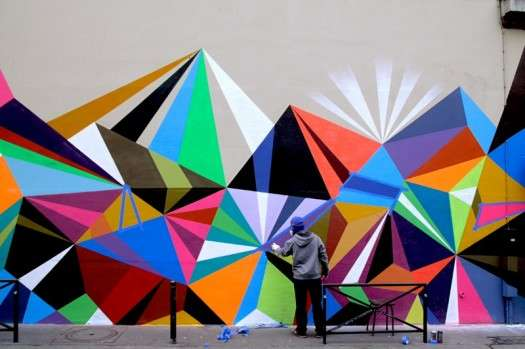 Vibrant Geometric Graffiti