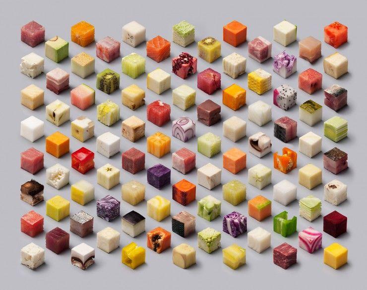 Artistic Cube Food