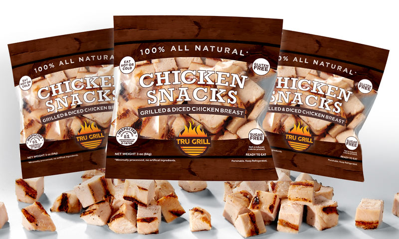 Cubed Chicken Snacks