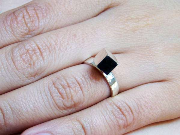 Cubist Solitaire Rings