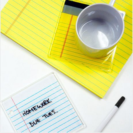Notebook Erasable Coasters