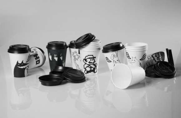 Mono-Hued Coffee Mugs