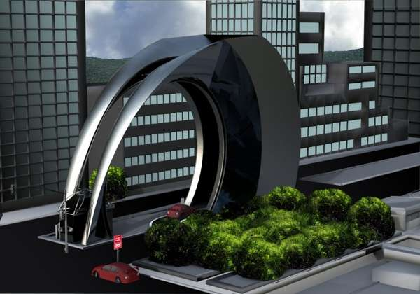 Arched Parking Lots