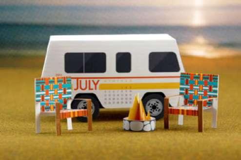 3D Caravan Calendars
