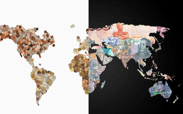 Currencies Around the World Maps