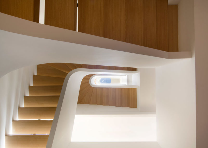 Spiraled Oak Staircases