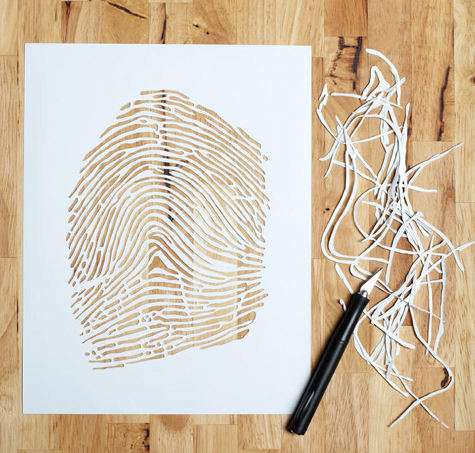 Custom Fingerprint Cutouts by Lori Danelle