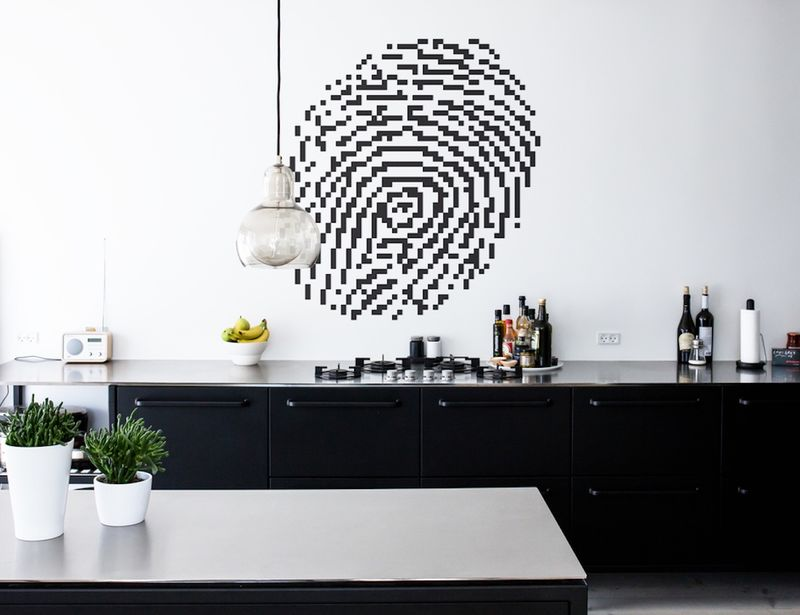 DIY Pixelated Wall Artwork